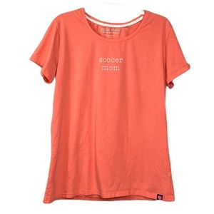 Mom Love Coral Soccer Mom T Shirt Size XL